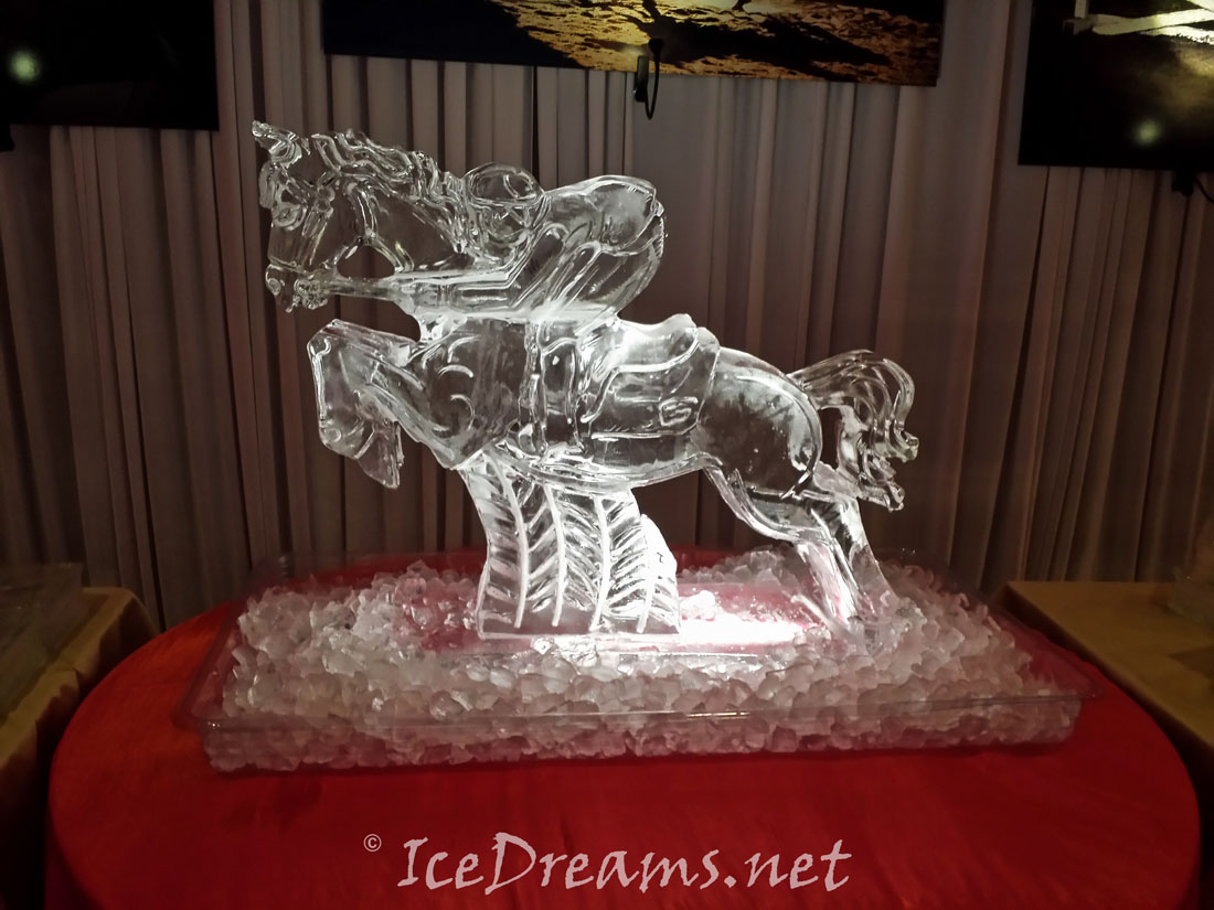 Jumping Horse Ice Sculpture Ice Dreams